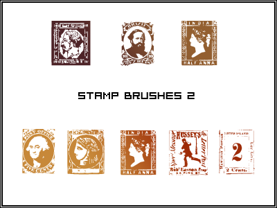 Stamp brushes for PS 6 by butnotquite