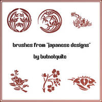 'Japanese Designs' brushes by butnotquite