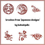 'Japanese Designs' brushes