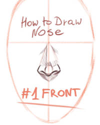 HOW TO DRAW NOSE - mini tutorial #1 - FRONT