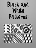 Black and white GIMP Patterns by AngelsFallFar