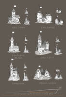 JS City Icons for maps [Sept.2014] by SirInkman