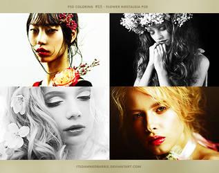 PSD #15 - Flower Nostalgia by itsdamnedbarbie