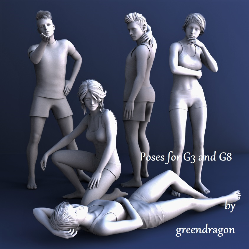 greendragon G3 and G8 poses by greendragon-gecko