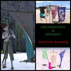 fantasy banner freebie by Greendragon and SmidA by greendragon-gecko