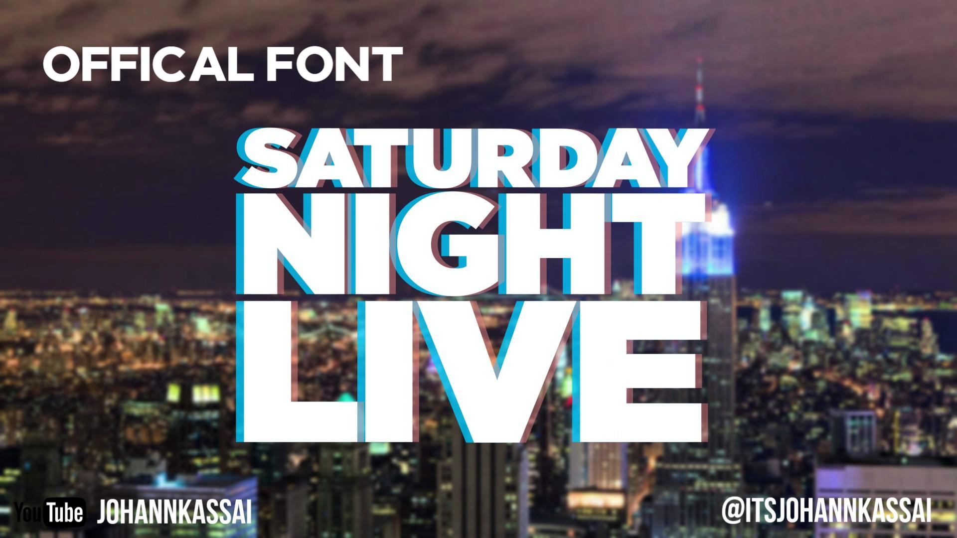 Saturday Night Live Font! free! by johannkassai on DeviantArt