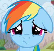 Sad Rainbow Dash by Afkrobot