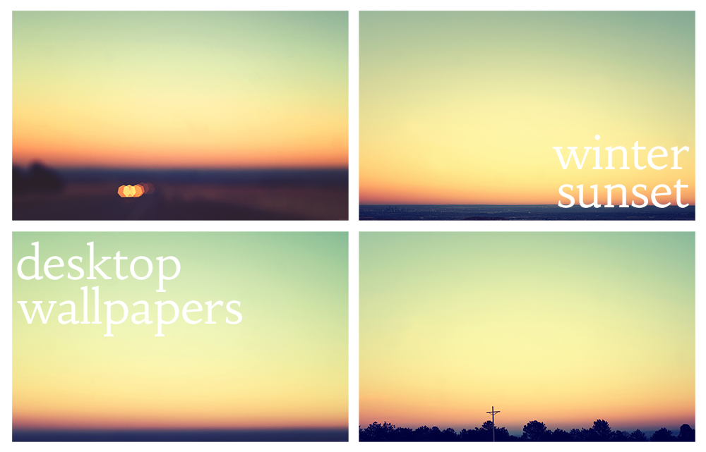Winter Sunset Wallpapers by solefield