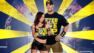 WWE John Cena and AJ Lee Wallpaper Widescreen V2