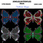 Jewel Butterfly Stock by nutkitten