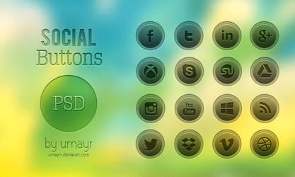Social Buttons [Free PSD]