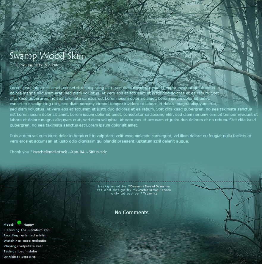 Swamp Wood Skin by Tramira