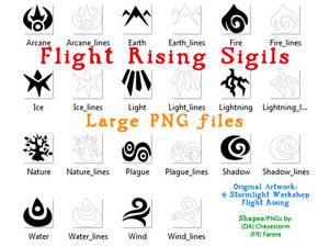 Flight Rising Element Sigil Large PNGs