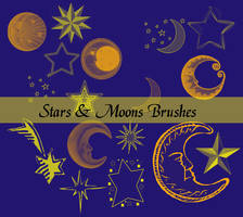 Stars and Moons Brushes by missedyn