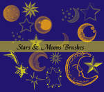 Stars and Moons Brushes