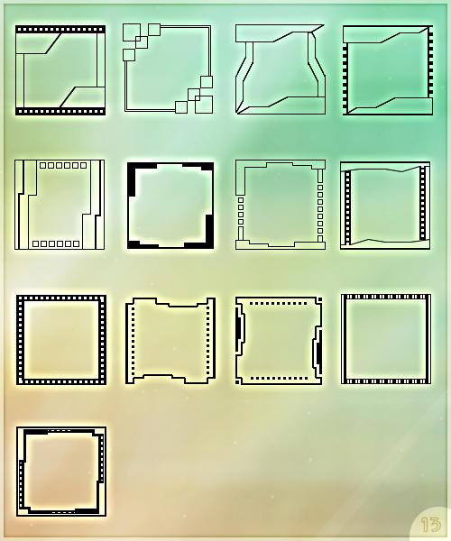 Templates for avatars - 13x by Morfuska