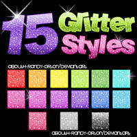 15 Glitter Styles For Photoshop