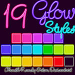 19 Glow Styles For Photoshop