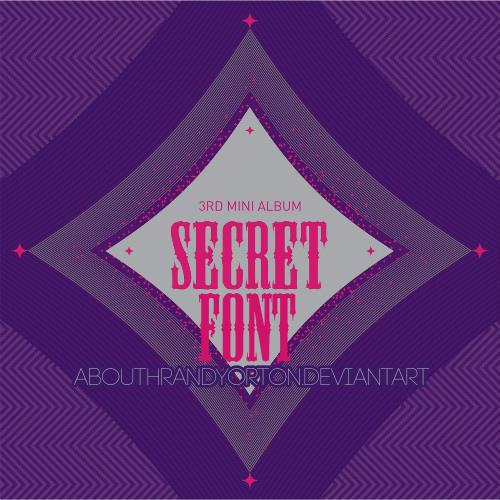Secret Kpop Group Font by AbouthRandyOrton