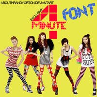 4Minute - Font by AbouthRandyOrton