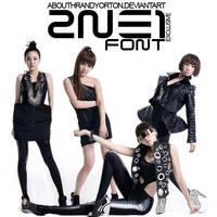 2NE1 - Font by AbouthRandyOrton