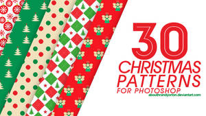 30 Christmas Patterns for Photoshop