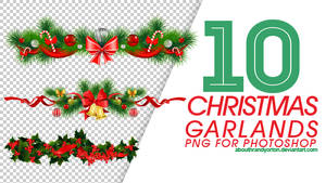 10 Christmas Garlands PNG