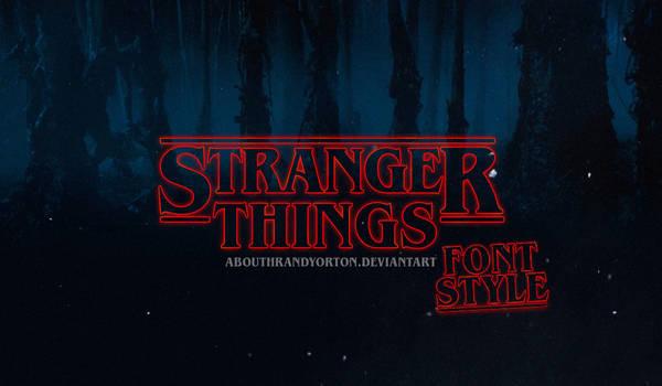 Stranger Things Font + Style