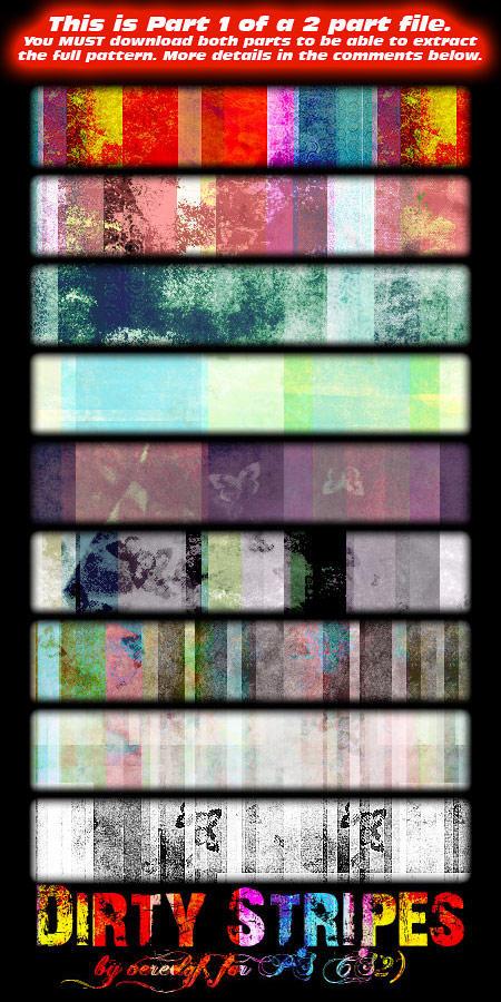 Dirty stripe patterns part1 by veredgf