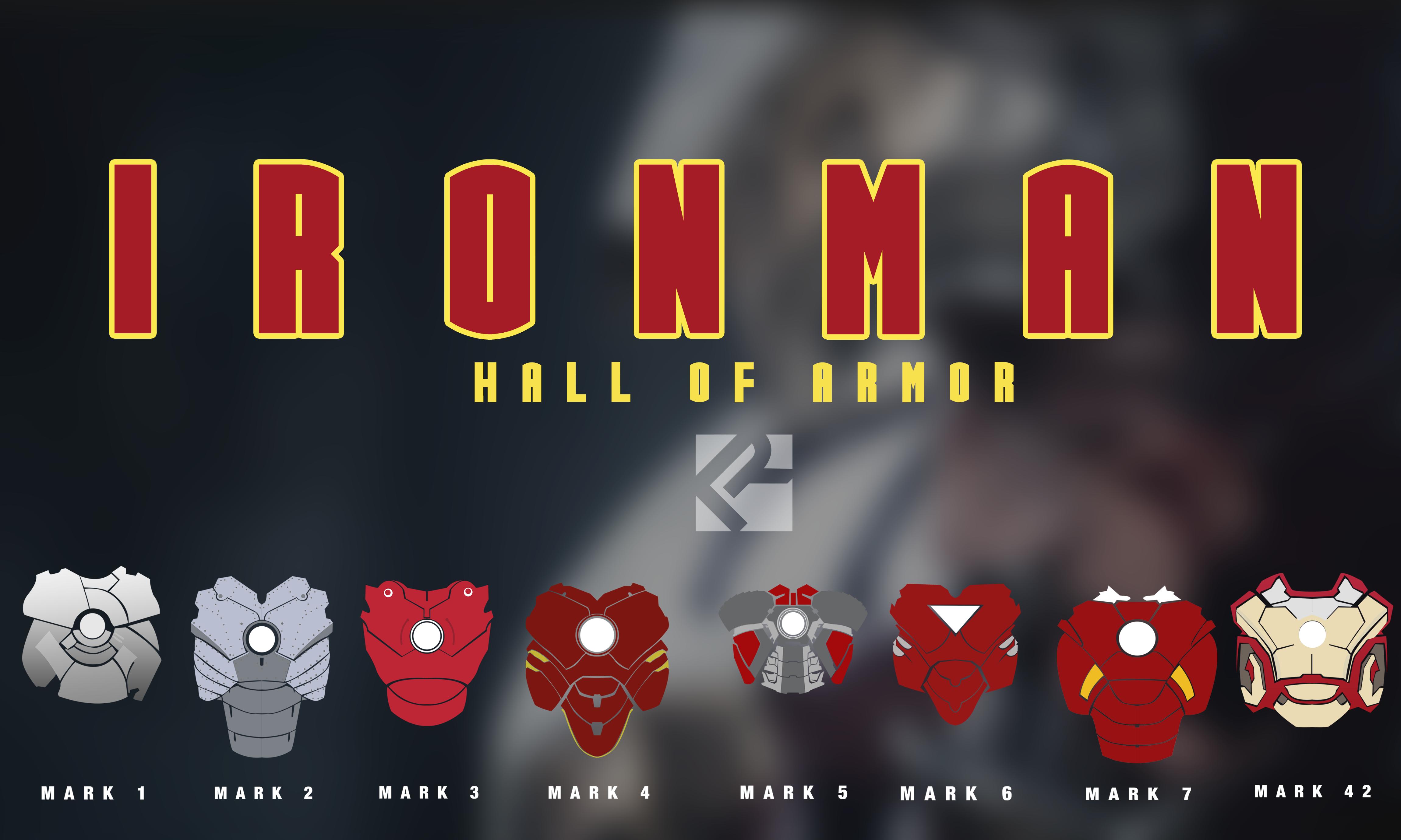 Iron Man Suit Armors by RavenmesanaArts on DeviantArt