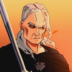 Geralt by Thylacinee