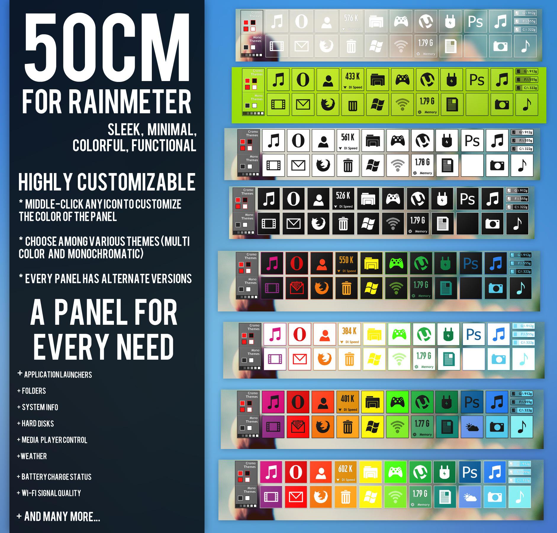 50CM for Rainmeter by Dariosuper