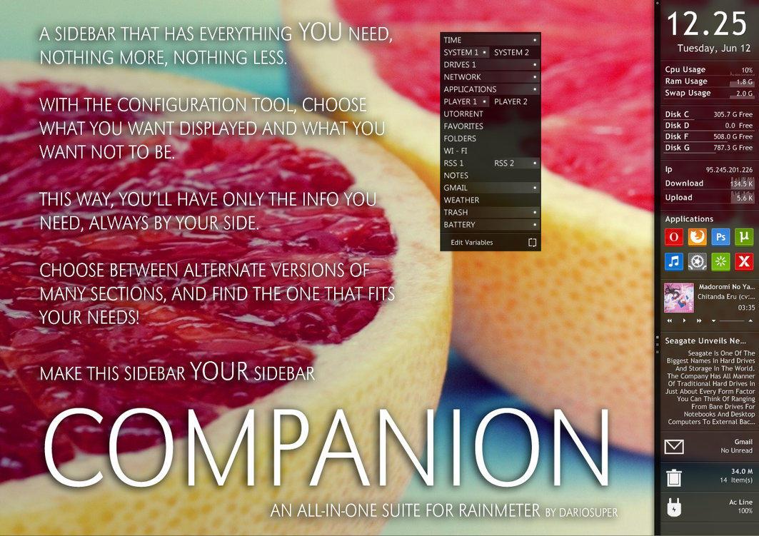 Companion for Rainmeter by Dariosuper