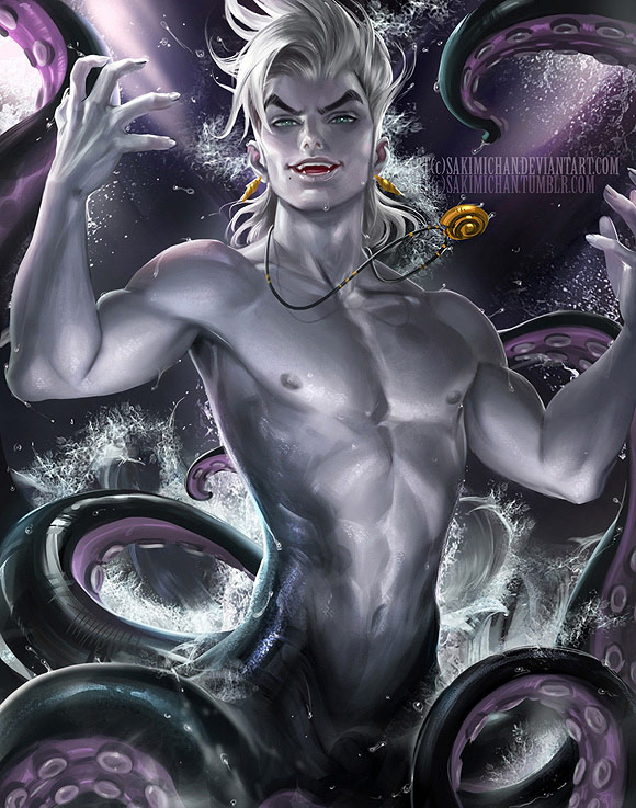 Image result for ursula little mermaid as a man