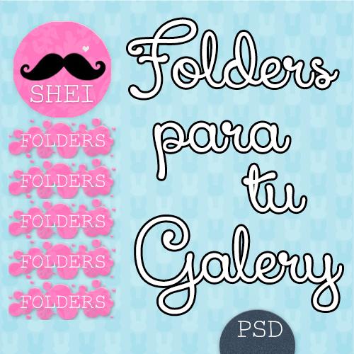 Folders para tu galeria (PSD) by Sheiilachela