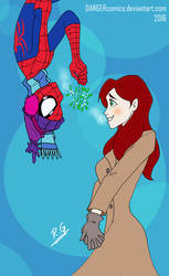 Christmas with Spidey and MJ by DANGERcomics