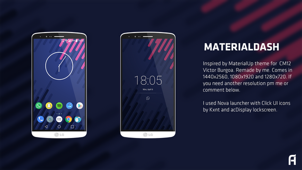 MaterialDash by Flexxkii (Teodor Anthony)