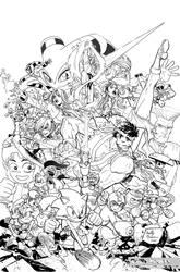 Sega vs Capcom art for coloring