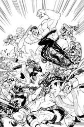 Marvel vs Capcom art for coloring