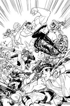 Marvel vs Capcom art for coloring