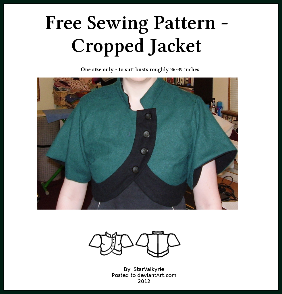 Free Sewing Pattern - Cropped Jacket by StarValkyrie