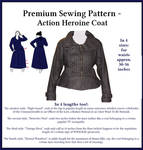 Premium Sewing Pattern - Action Heroine Coat