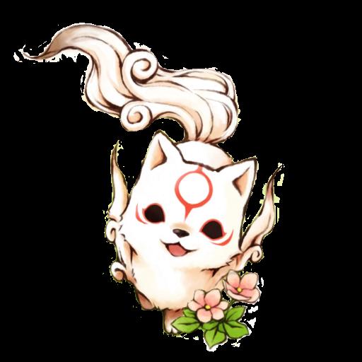 Chibi Okami Amaterasu - Icon by KurotsukiDC on DeviantArt