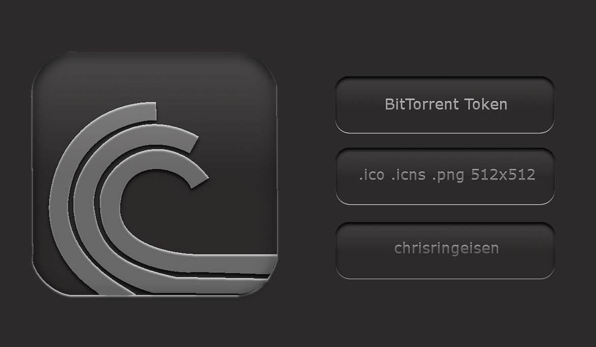 BitTorrent Icon :Token Style: by chrisringeisen