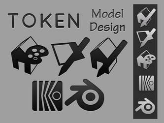 Token 3D Modeling Icons by chrisringeisen