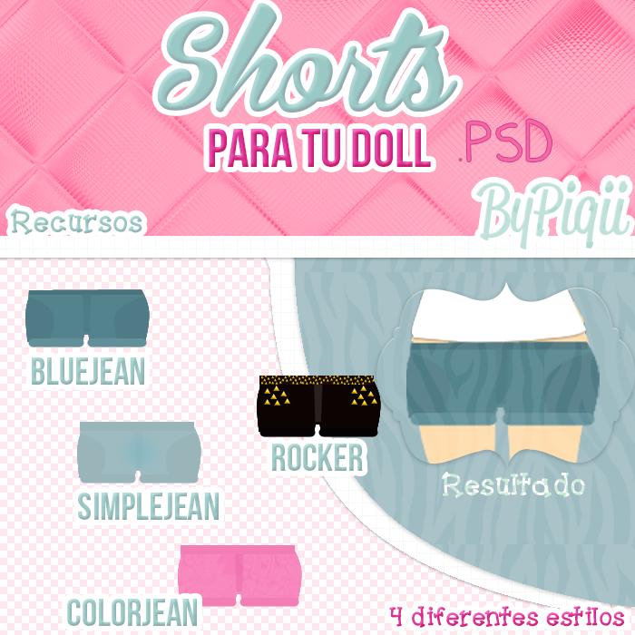 Shorts-Para tus Dolls- .PSD y.PNG by TutosCreateBluue