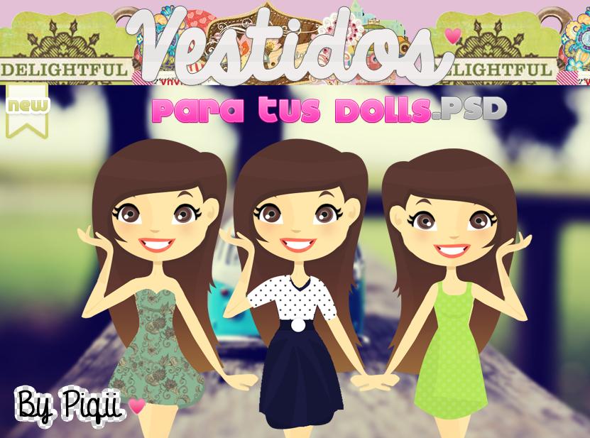 Vestidos .PSD para tus Dolls :) by TutosCreateBluue