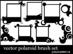vector polaroid brush set