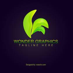 Wonder graphics Leaf logo Design Template free by ROSEWALLPAPERS