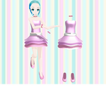 .:MMD~53 WATCHERS GIFT:Outfit with layered skirt:.